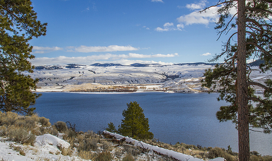 Great weather on the Merritt CBC - view across Nicola Lake. Photo: ©Rick Howie