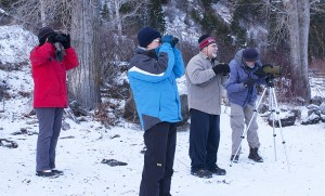 Christmas Bird Count participants - December 2012.  Photo: Corey Burger