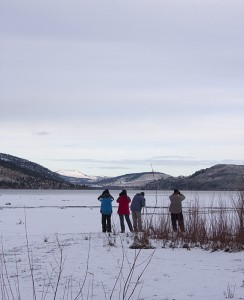 Birding at Douglas Lake, Dec 2012.  Photo: © Corey Burger