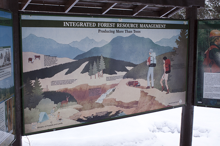 One of the interpretive signs along the trail