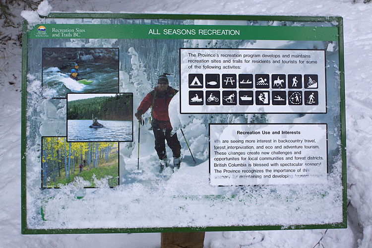 Another interpretive sign along the trail
