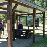 Harmon Interpretive Forest information kiosk.  Photo: Carol Madryga