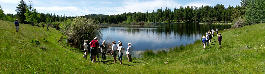 Exploring Batstone Lake on Seven Half Diamond Ranch. Photo: © Anne Pang