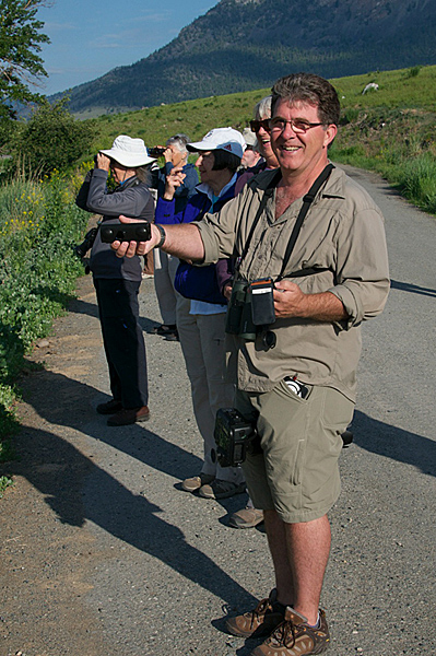 Birding along Quilchena Creek.  Photo © Robert Bear